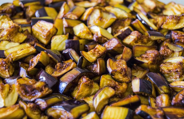 Simple Eggplant Stir-Fry with Hemp Seeds