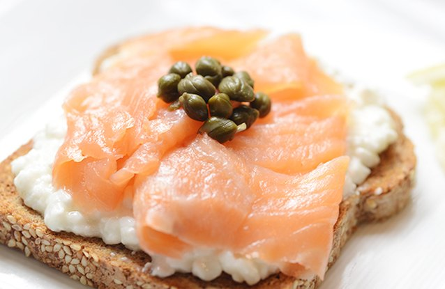 Smoked Salmon and Caper Sandwich