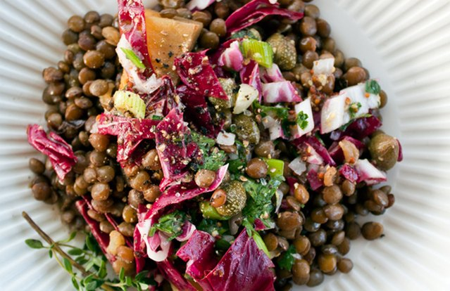 French Lentil and Golden Beet Salad