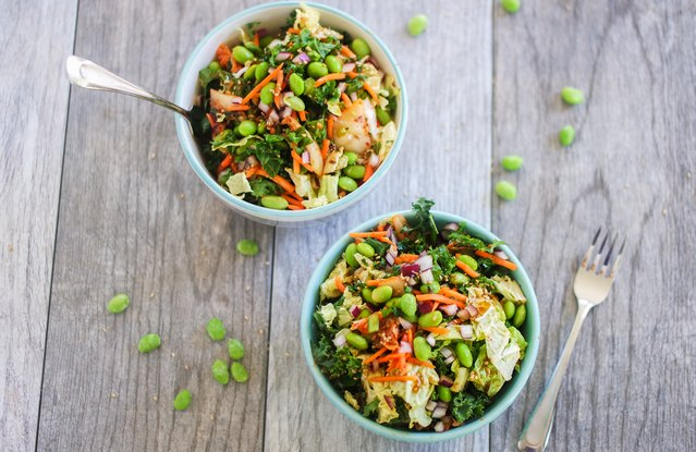 Kimchi Power Salad With Edamame and Quinoa