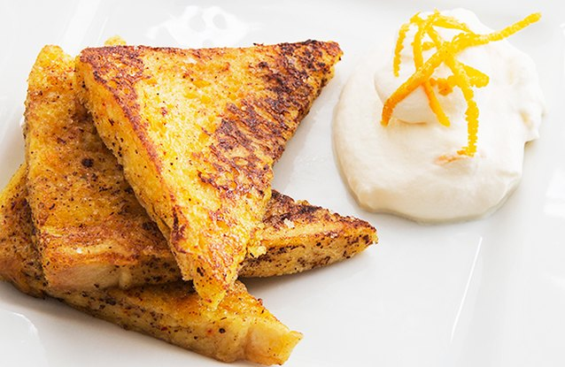 Cinnamon French Toast with Yogurt