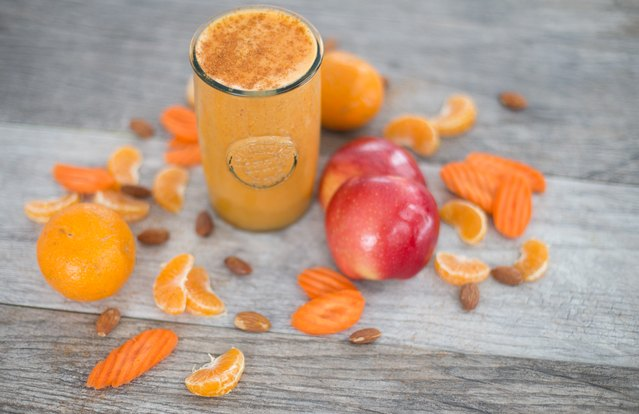 Carrot, Mandarin and Cayenne Smoothie