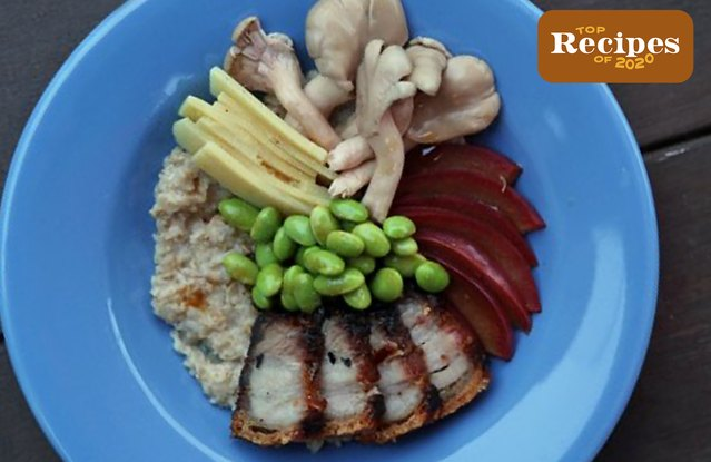 Roast Pork Belly Oatmeal Bowl