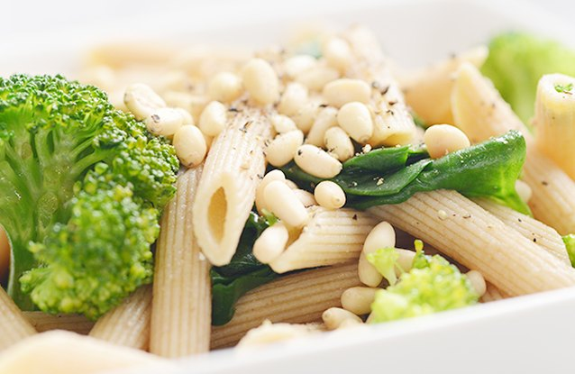 Spinach & Broccoli Pine Nut Pasta