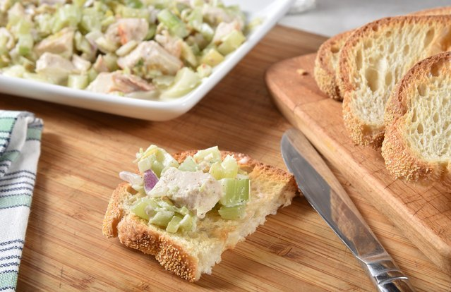 Sonoma Grilled Chicken Breast Salad Tartines (From Leftover: Grilled Chicken Breast)