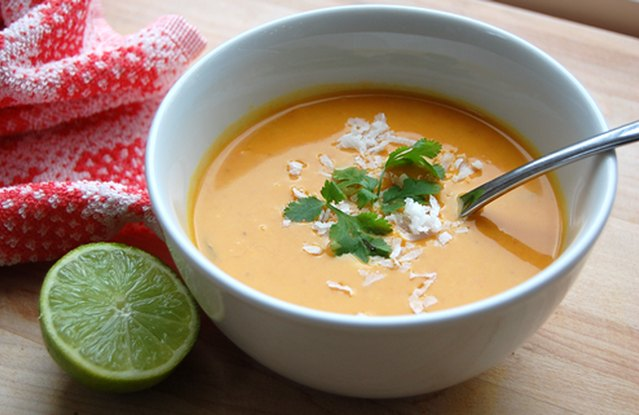 Spicy Sweet Potato Soup with Coconut