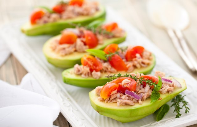 "Avocado ""Sandwich"" (Stuffed Avocados)"
