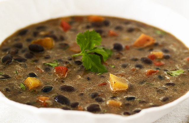 Chicken and Avocado Black Bean Soup