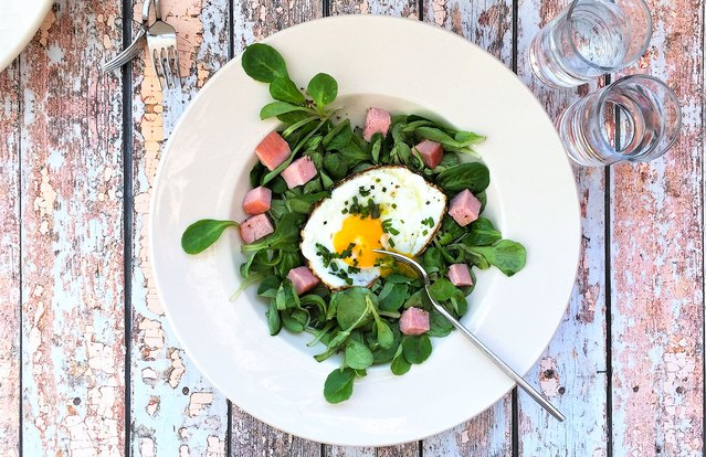 Organic Ham and Egg Breakfast Bistro Salad