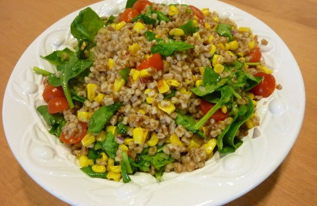 Wheat Berry Veggie Salad with Citrus Vinaigrette