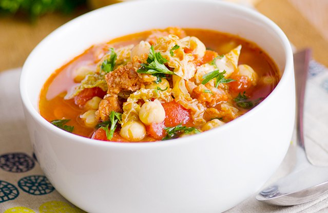 Chicken, Chickpeas and Chorizo Stew
