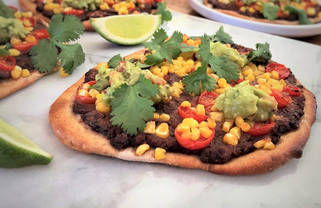 Vegetarian Mexican Personal Pizzas