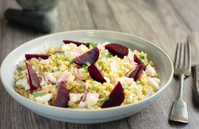 Bulgur, Beets and Goat Cheese Bowl