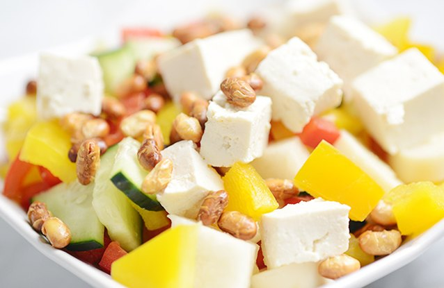 Chopped Salad with Tofu & Soy Nuts