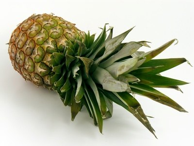 Pineapple is a sweet fruit that may be substituted by an apple or peach.