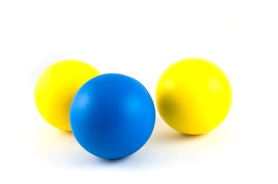Using balls adds variety to exercises.