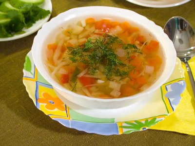 Soup can relieve sinus pressure and nausea.