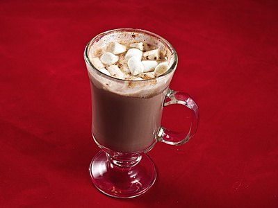 Hot chocolate provides several extra calories for body-heat production.