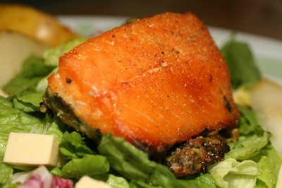 Salmon is one fish choice containing healthy fats.