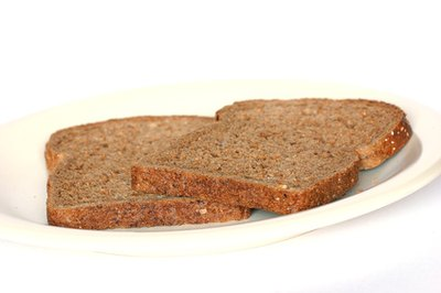 Whole-grain bread is a good source of carbohydrates.