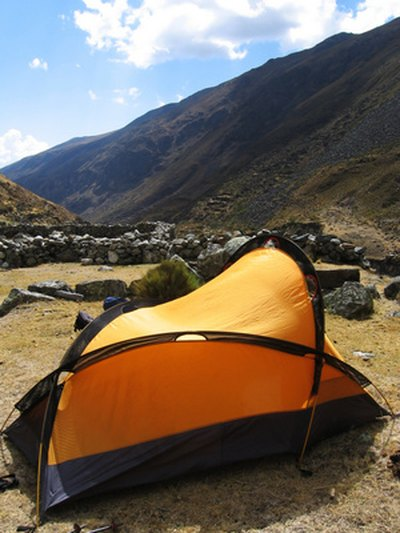 Nylon tents heat up quickly in direct sunlight.