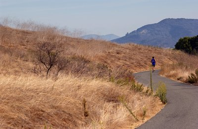 Running uphill can elicit heel pain caused by plantar fasciitis.