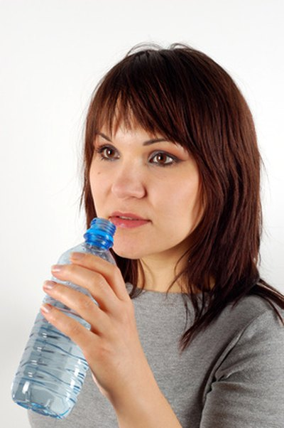 Drink water to keep skin hydrated.