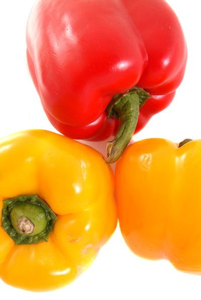 Red peppers are high in vitamin C.