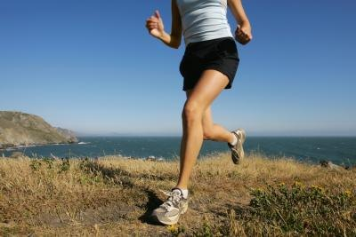 Running and walking are cardio options that also target legs.