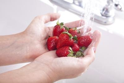 Wash your strawberries.