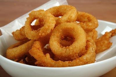 Avoid deep fried foods like onion rings.