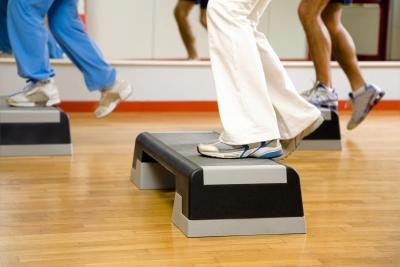 Many gyms offer aerobic classes for their members.