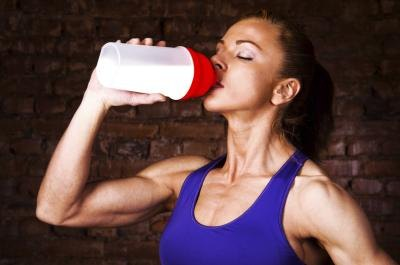 Protein shakes are a healthy snack.