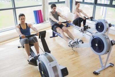 Using the rowing machine at your gym is a great way to burn additional calories.