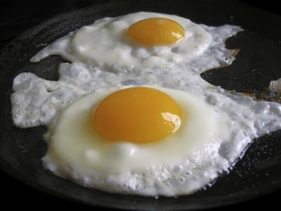 Eggs on stove