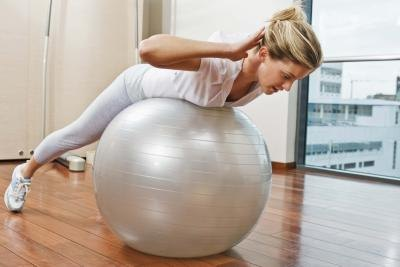 Stability balls use your core muscles during any exercise using the ball and don't take up much room.