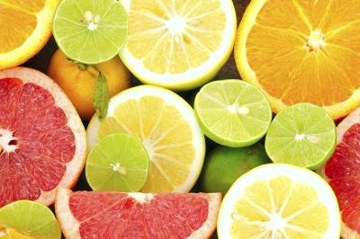 Citrus fruits break down cholesterol.