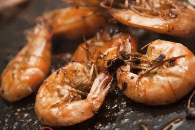 Shrimp, scallops, and snapper also contain omega-3's.