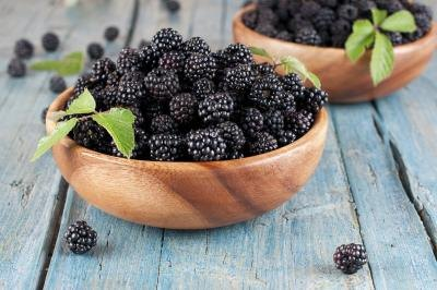 Blackberries are high in antioxidants.