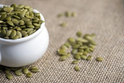 Pumpkin seeds provide the highest amount of L-tryptophan of the nut and seed group.