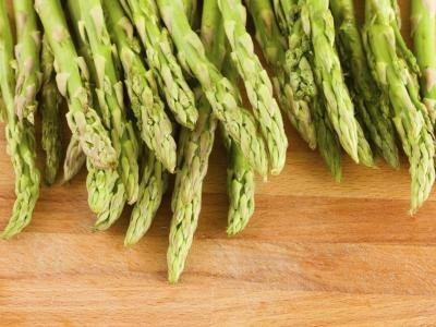 Asparagus is a high-fiber vegetable.