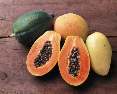 Papaya contains an enzyme that makes it very easy to digest protein.