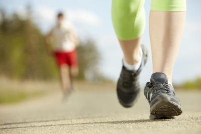 Alternate running and walking for a simple interval training workout.