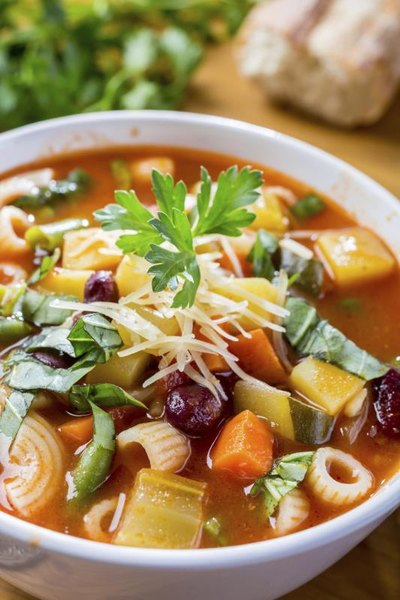 Olive garden minestrone soup nutrition facts livestrong com - Minestrone soup olive garden recipe ...
