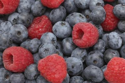 Image result for Raspberries and Blueberries