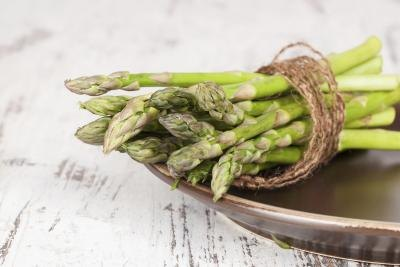 Asparagus is high in vitamin C.