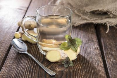 Homemade ginger tea tastes great and can help ease the pain.