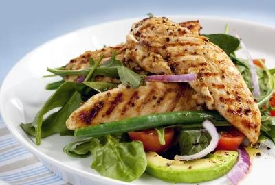 Grilled chicken salad.