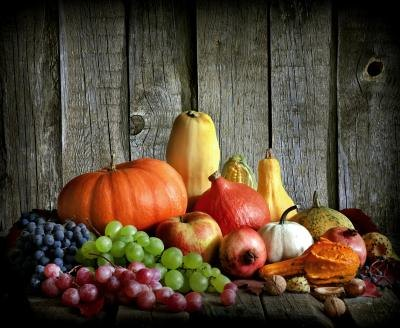Fruits and vegetables contain healthy fiber.