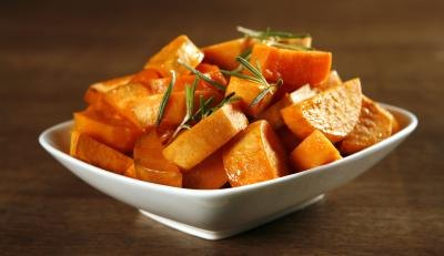 Sweet potatoes are a good source of protein.